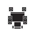 hi-fi system black concept icon hi-fi vector image