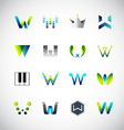 Icon design based on letter W vector image vector image