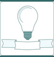 icon light bulb lamp vector image vector image