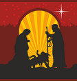 joseph and mary with the child jesus vector image vector image