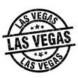 las vegas black round grunge stamp vector image vector image