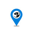 location dog logo icon vector image vector image