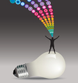 Man Light Bulb Burst vector image
