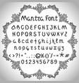 mantra font vector image