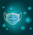 mask coronavirus vector image vector image