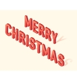 Merry Christmas greeting card 3d isometric vector image