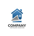 modern house and real estate business logo vector image