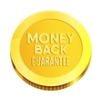 Money back guarantee business seal vector image