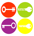 monochrome icon set with keys vector image vector image