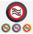 No Water waves sign icon Flood symbol vector image vector image