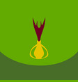 onion icon in flat style onion logo vegetable vector image vector image