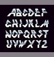 paper alphabet of folding vector image