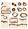 paper burnt holes and scraps edges scorched vector image
