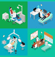 patient and doctor appointment isometric view vector image