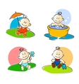 Playing childs vector image vector image