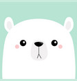 polar white bear cub sad face merry christmas vector image vector image