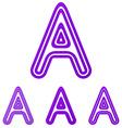 Purple line a logo design set vector image vector image