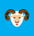 ram happy face emotion avatar sheep merryl emoji vector image