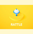 rattle isometric icon isolated on color vector image vector image