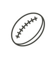 rugby ball icon line rugby symbol vector image vector image