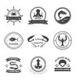 Sea Food Label Set vector image vector image