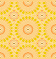 seamless pattern design mandala round elements vector image