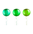 set green round shaped foil balloons on vector image vector image