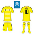 Set of soccer kit or football jersey template