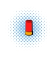 Shotgun shell icon comics style vector image vector image