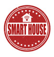 Smart house grunge rubber stamp on white
