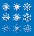snowflakes set elegant design elements collerion vector image vector image
