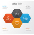 social icons set collection business exchange vector image vector image