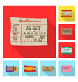 ticket and admission logo vector image vector image