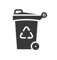 trash can and recycle symbol icon vector image