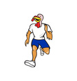 Turkey Run Runner Front Cartoon vector image vector image