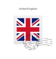United Kingdom Flag Postage Stamp vector image