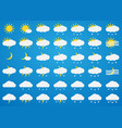 weather icons set on blue background vector image