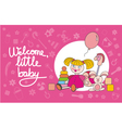 Welcome little baby pink vector image