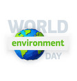 world environment day earth day banner low poly vector image