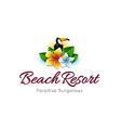 Beach Resort Logo vector image