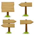 Wooden signs set vector image