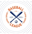 Old style Baseball Label with ball and bats vector image