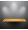3d isolated empty shelf for exhibit vector image vector image