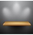 3d isolated empty shelf for exhibit vector image