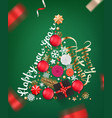 abstract christmas tree different holiday vector image