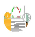 analysis financial stock vector image