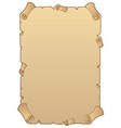 ancient paper scroll 1 vector image
