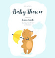 baby shower design template vector image vector image
