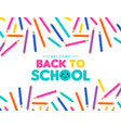 back to school art color pencil design for kids vector image vector image