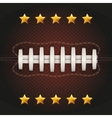 Background of American Football ball vector image vector image